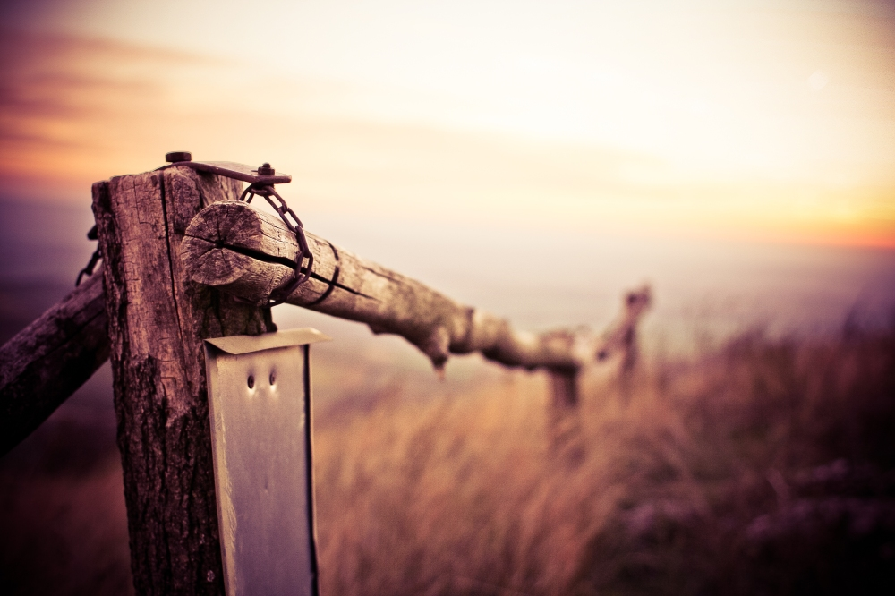 Natural Wooden Fence on Mountain